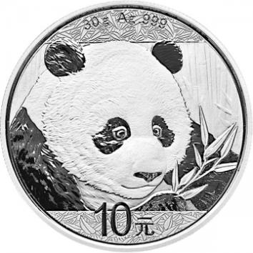 2018年熊猫银币 30克银币