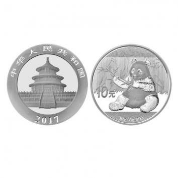 2017年熊猫银币 30克银币