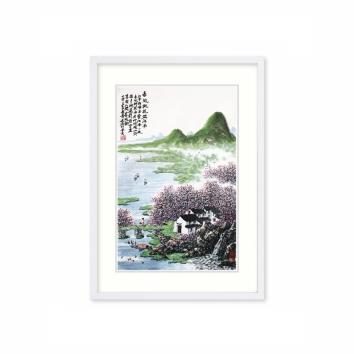 黄廷海书画作品《春风桃花满江南》
