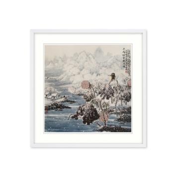 黄廷海书画作品《冬荷铁骨傲风雪》