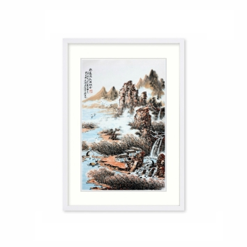 黄廷海书画作品《秋芦渔歌酒飘香》