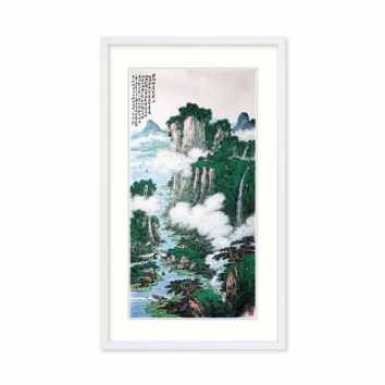黄廷海书画作品《碧水丹崖武夷山》