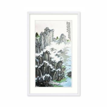黄廷海书画作品《富春山居云峰秀》