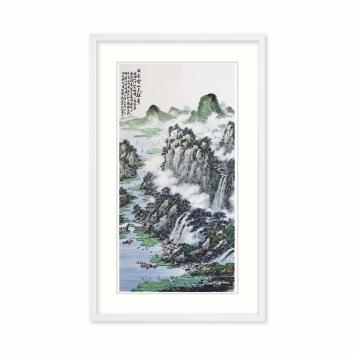 黄廷海书画作品《我爱云山多雄奇》