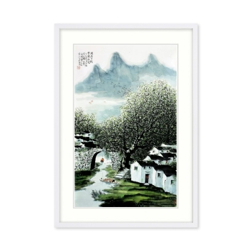 黄廷海书画作品《周庄古镇》