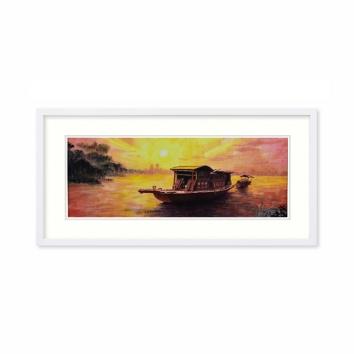 魏楚予书画作品《红船》