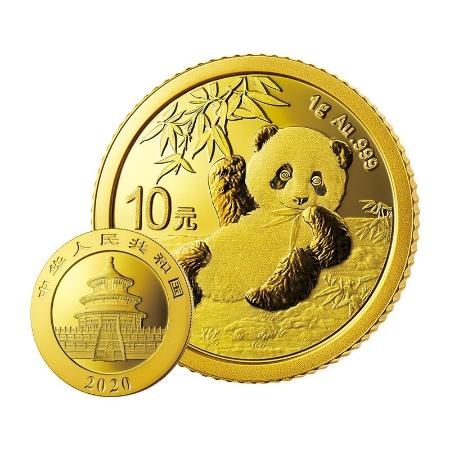 中国金币 2020年熊猫金币纪念币 熊猫金币