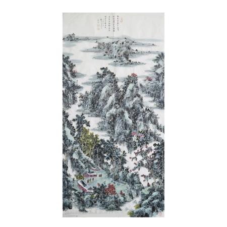 郭子昂八平尺书画作品