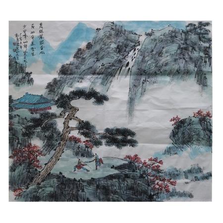 郭子昂两平尺书画作品