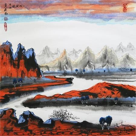 黄建南书画作品《一帆风顺》