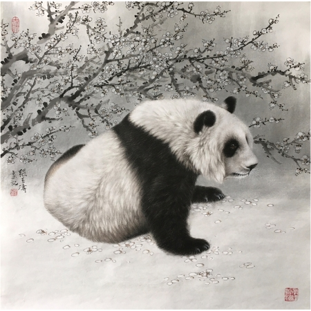 张玉涛书画作品《熊猫》