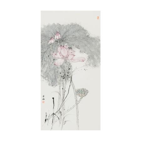 秦燕格书画作品《荷花图》