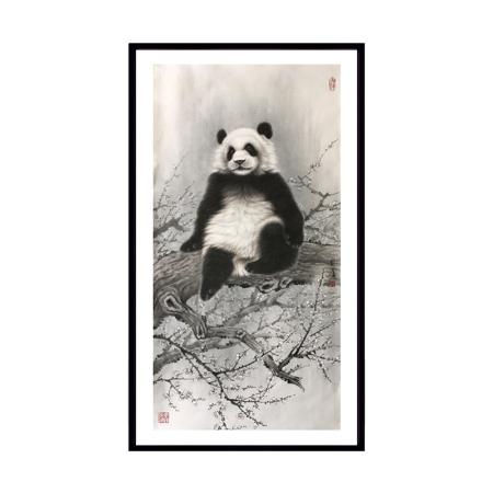 张玉涛书画作品《单只熊猫》