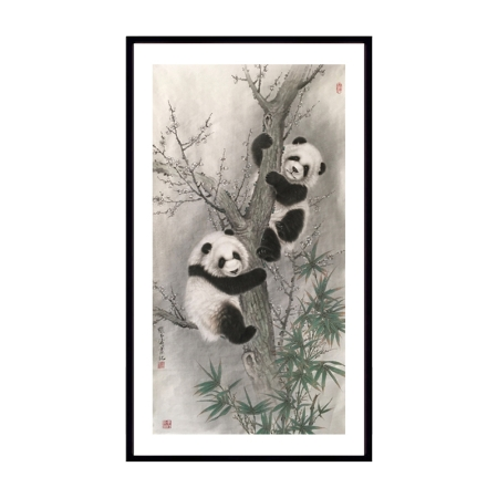 张玉涛书画作品《两只熊猫》