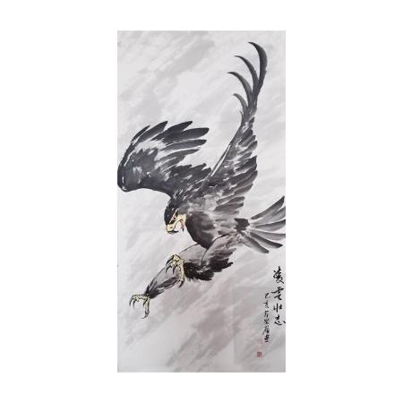 黄崇岭书画作品《鹰》