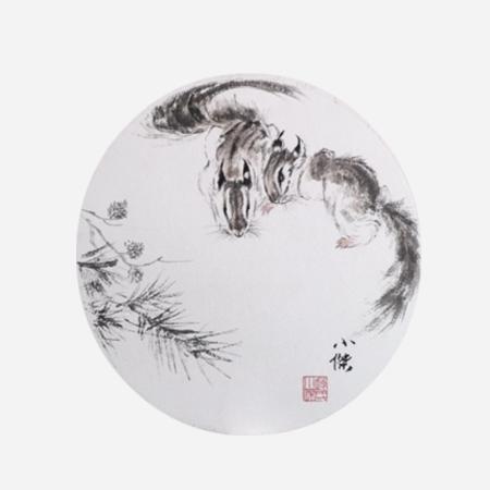 赵小杰书画作品十二生肖《鼠》