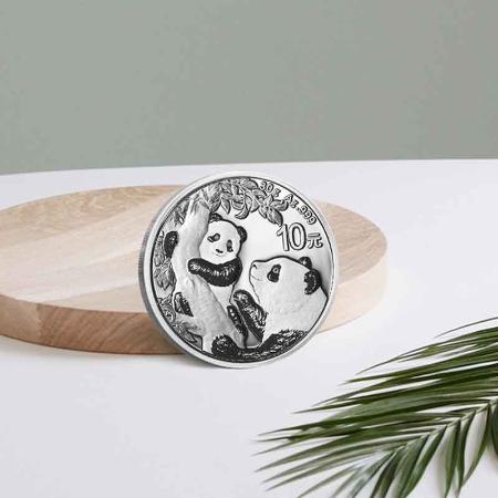 2021年熊猫银币纪念币30克